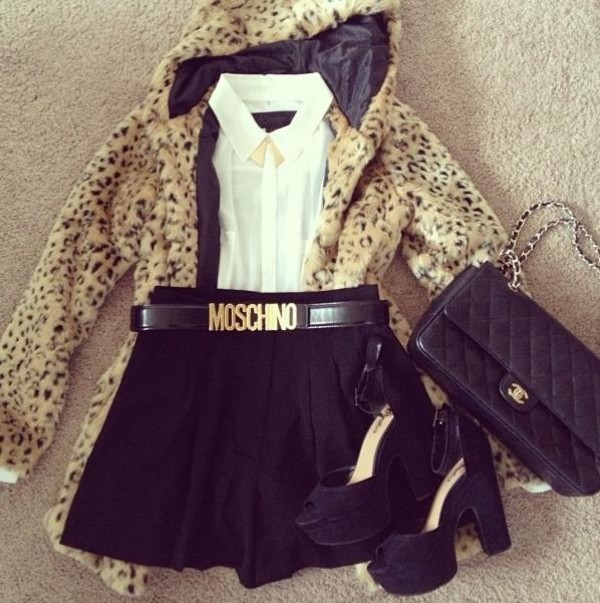 bag moschino fur faux fur jacket