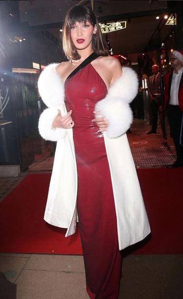 coat dress gown prom dress red dress red bella hadid model maxi dress red carpet dress