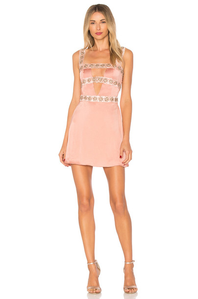 For Love & Lemons dress mini dress mini opal beaded pink