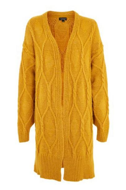 Topshop cardigan cable knit cardigan cardigan knit mustard sweater