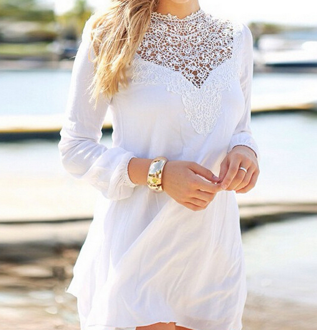 Fashion cute lace dress chiffon