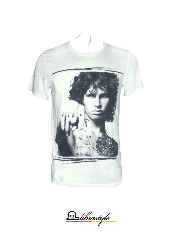 Jim Morrison The Doors tattoo white tshirt songs by librastyle