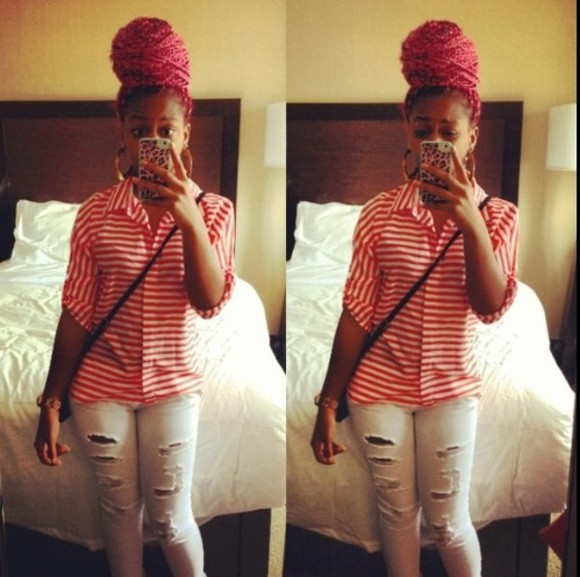 shirt jewels pants bahja rodriguez omg bun head, pinky, thuggin, money on deck😘😍😜😛😁😎😋👅👄🙈👊👊👑👑👑💄💄💋💋💎💎💎💍