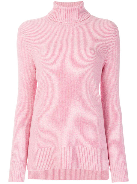 Ganni sweater women turtle purple pink