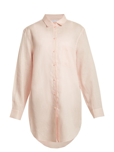 shirt oversized light pink light pink top