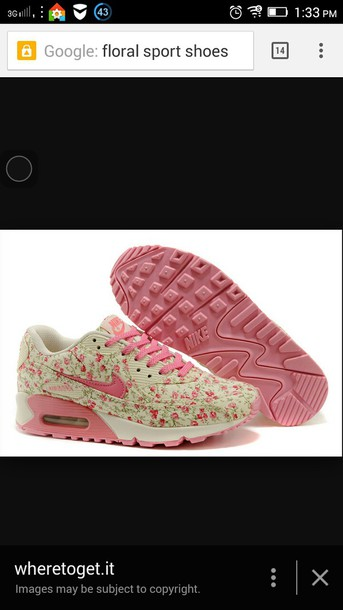 shoes pink nike floral shoes