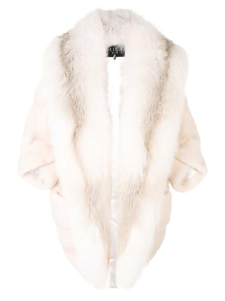 coat fur fox women nude silk