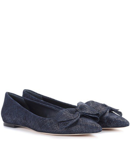 Tory Burch suede blue shoes