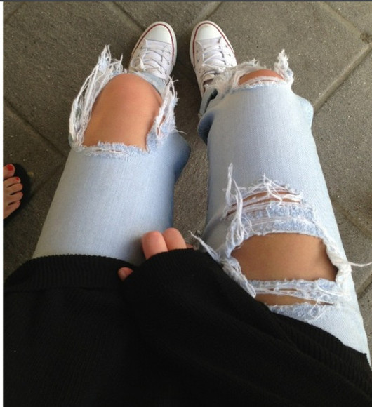 jeans distressed jeans edgy teenfashion cute