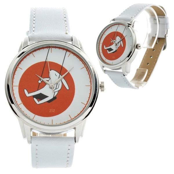 jewels white white bunny white rabbit bunny bunny watch watch swings ziziztime ziz watch orange
