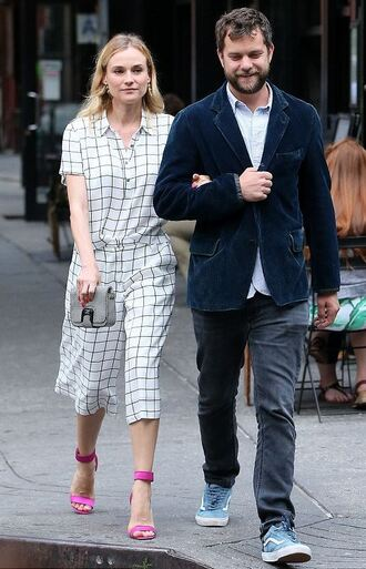 pants shirt diane kruger sandals two-piece shoes