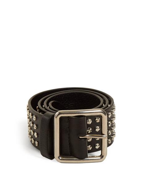 studded belt leather black