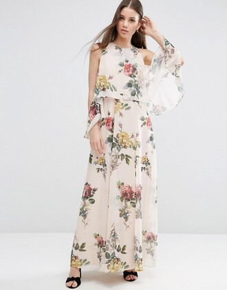 dress flowers flower print maxi dress maxi dress long dress wedding wedding clothes boho dress