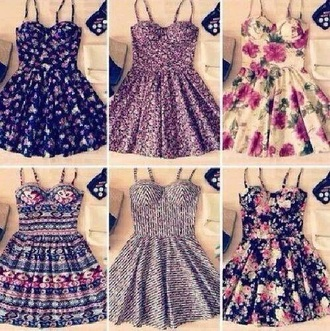 dress fashion summer dress floral summer pattern