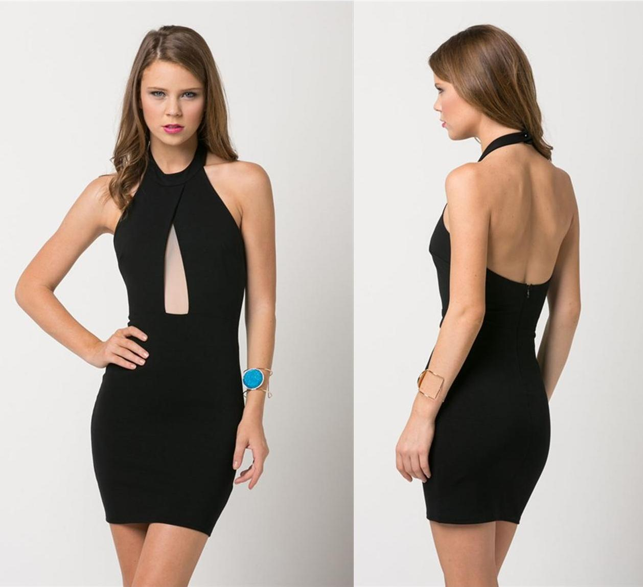 Black dress with mesh keyhole · trendyish · online store powered by storenvy