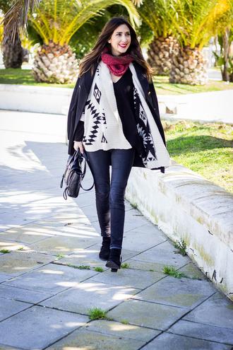 shoes and basics blogger cardigan aztec sweater