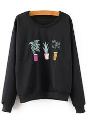 sweater,cool,fall outfits,fashion,winter outfits,plants,style,tomboy,long sleeves,shirt