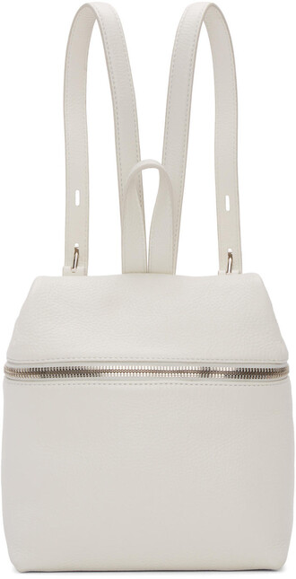 backpack leather backpack leather white off-white bag