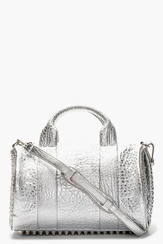 bag rocco silver handbag accessories women duffle bags
