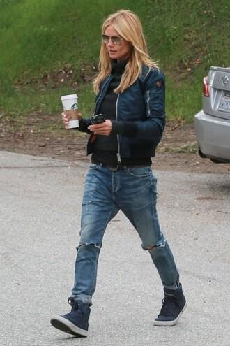 jeans heidi klum boyfriend jeans jacket