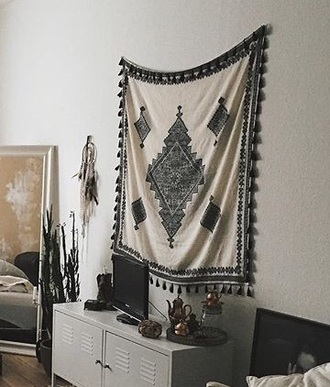 home accessory tapestry wall tapestry tapestry blanket wall hang indian basic