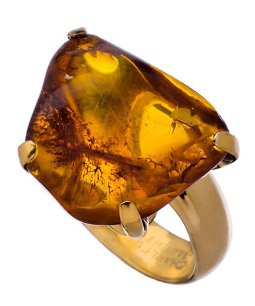 jewels charles albert gold and amber prong set ring amber set ring ring gold charles albert