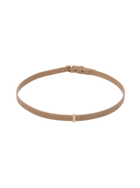EF COLLECTION rose gold rose women gold leather nude jewels