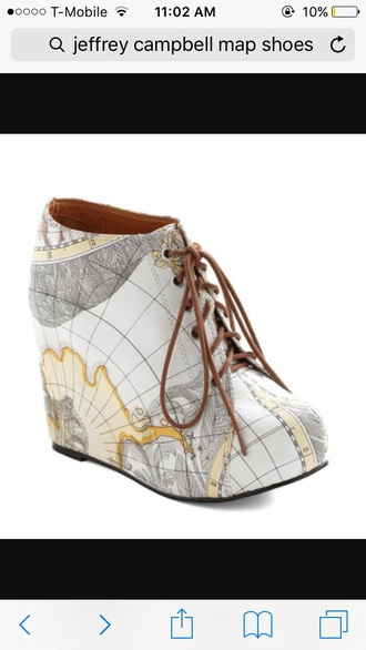 shoes jeffrey campbell map print wedges