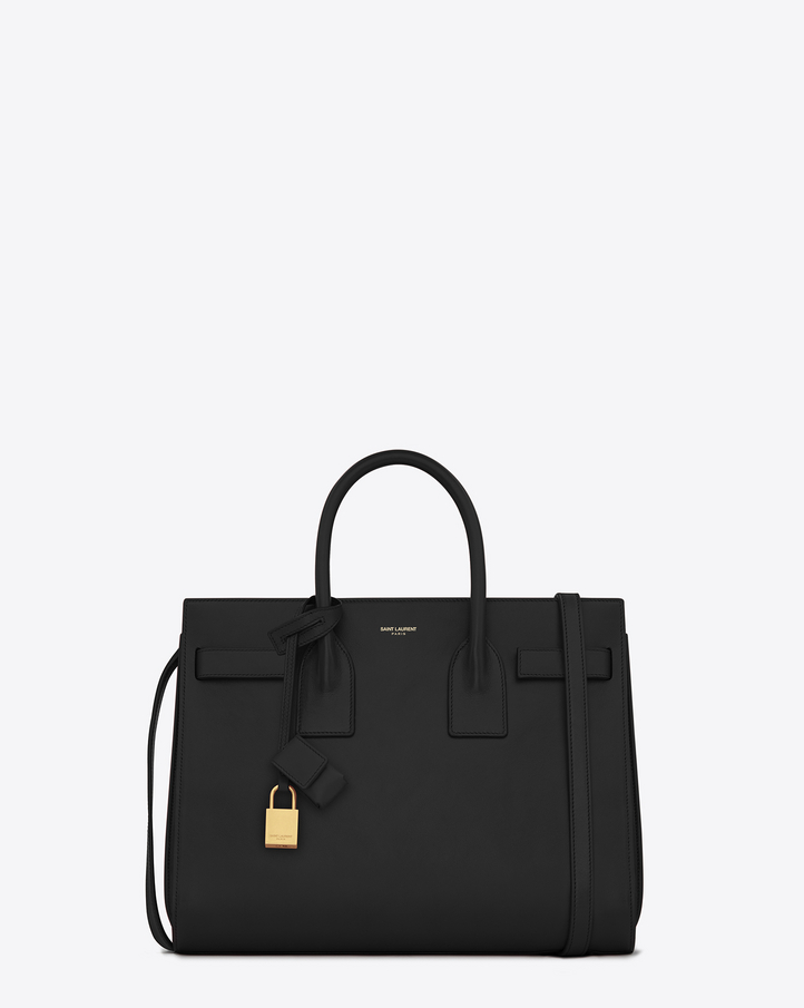 Saint Laurent Classic Small Sac De Jour Bag In Black Leather