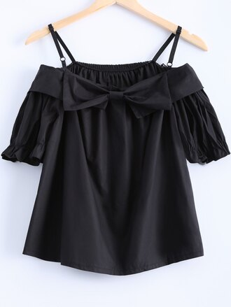 top bow fashion style crop tops summer spring gamiss