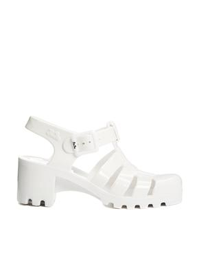 Juju | JuJu Babe White Heeled Jelly Sandals at ASOS