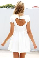 WHITE DRESS WITH HEART BACK on The Hunt