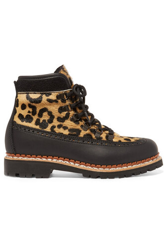 leather ankle boots hair boots ankle boots leather print leopard print shoes