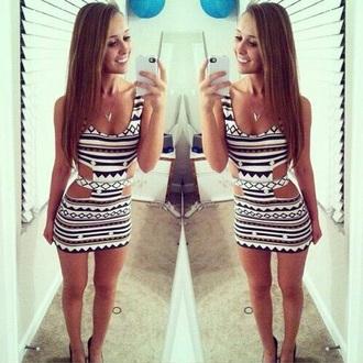 dress white dress aztec print aztec aztec dress