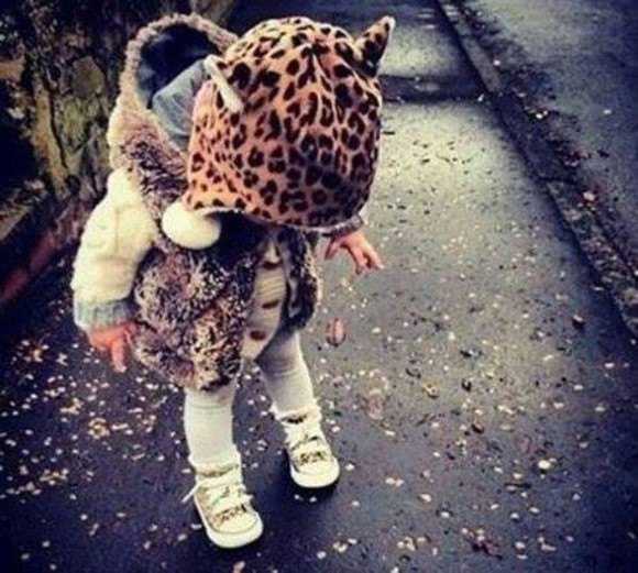 kids fashion girl leopard print winter sweater winter outfits halloween costume halloween