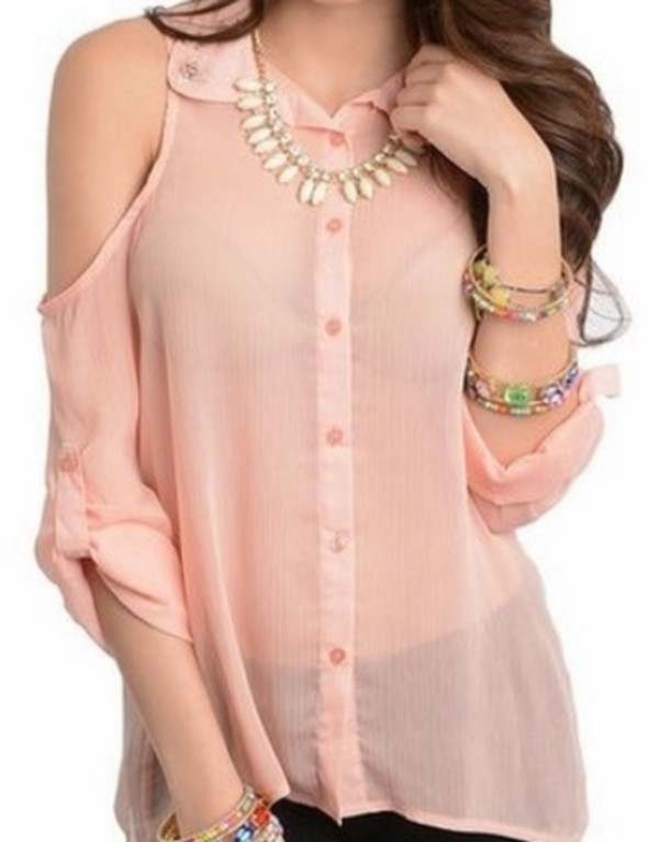 blouse pink hot top shirt cute appealingboutique
