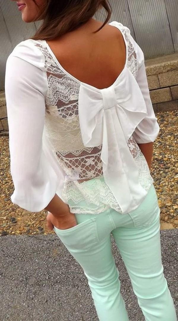 blouse clothes jeans lace back blouse lace back