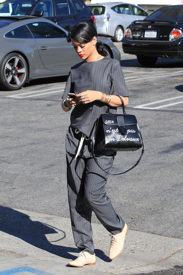 top rihanna alexander wang pants earrings jewels
