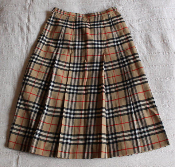 Plaid Skirt Womens Kilt Nova Check High Waist Tartan Print ...