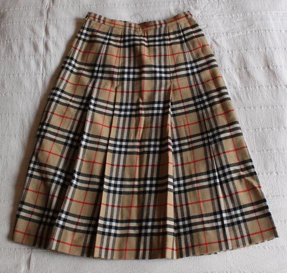 Burberry Skirt Plaid October 2017