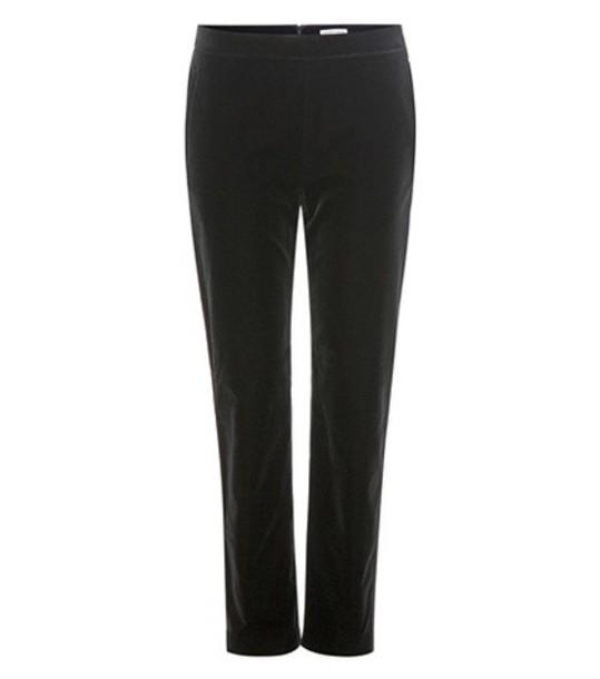 Tomas Maier Velvet Cropped Trousers in black