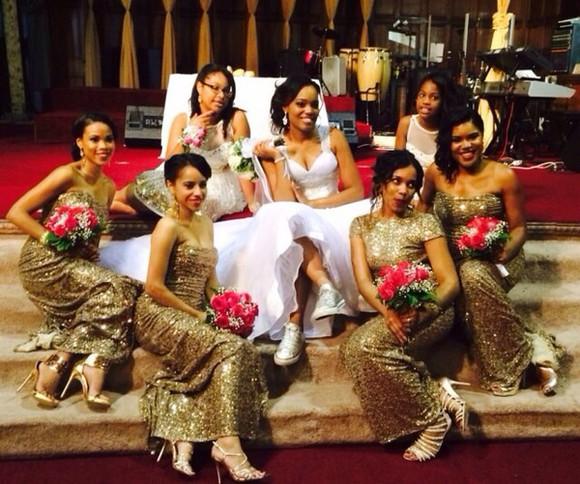 gold gold sequins bridesmaid