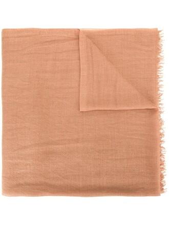 women scarf silk brown