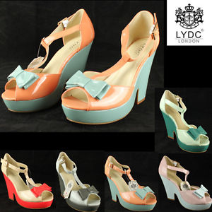 LYDC Peep Toes Block Heel Hell T Strap Wedding Evening Shining Shoes Gift Boxed | eBay