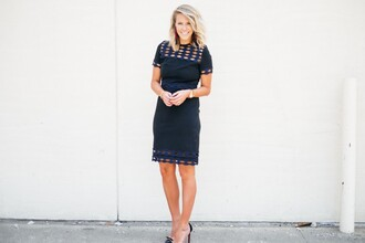 the courtney kerr blogger dress jewels shoes