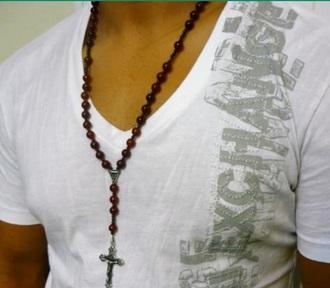 jewels menswear necklace rosary jewlery catholic