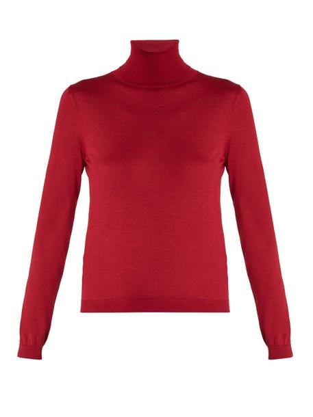 REDValentino sweater silk dark pink