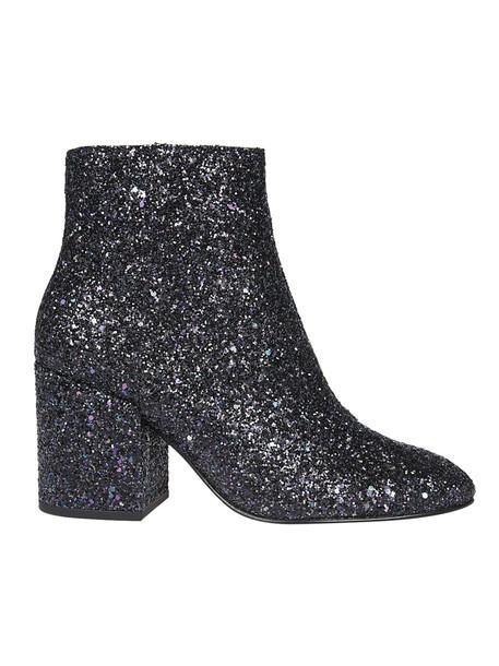 ASH glitter ankle boots purple shoes