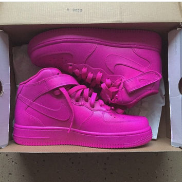 PINK Mid Nike Air Force 1 (Authentic Nike from TheLittleFoot on