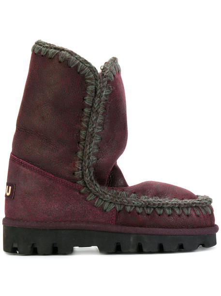 Mou women winter boots purple pink shoes